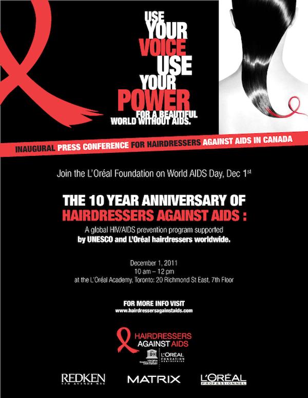 hairdresseres against aids invitation