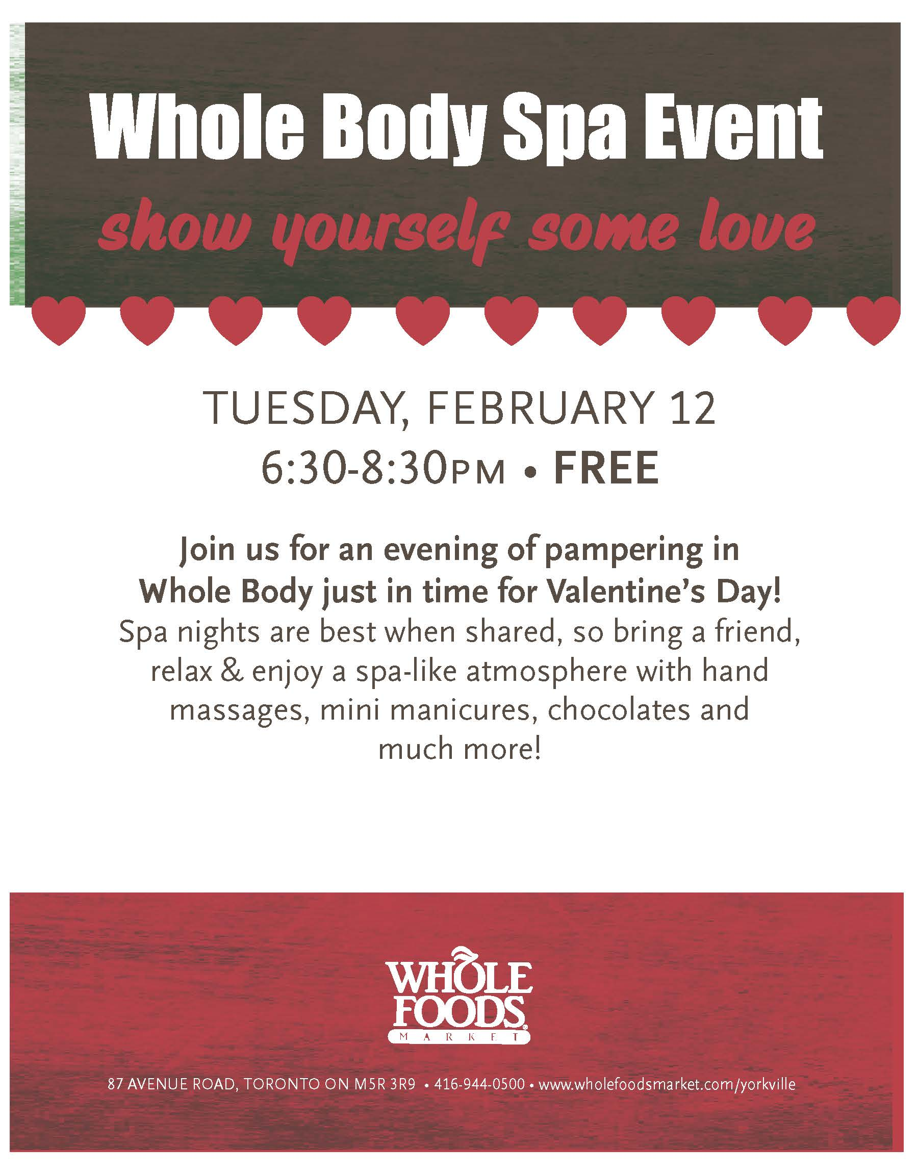 YRK Whole Body Spa Event