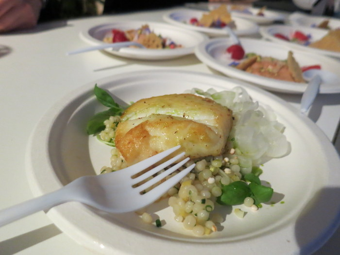Bosk's roasted Atlantic Halibut with grains, fennel, citrus and basil