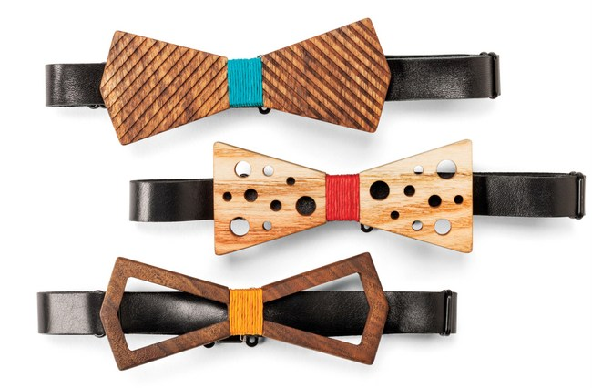 1-Sam and Mahran Mansouri Wooden bow ties
