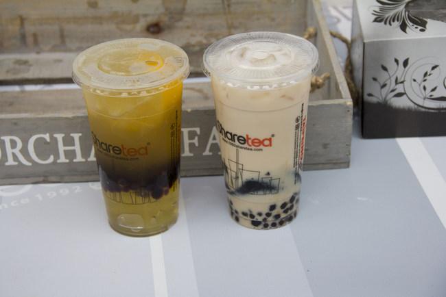 1-Sharetea Black Milk Tea and Lemon green tea