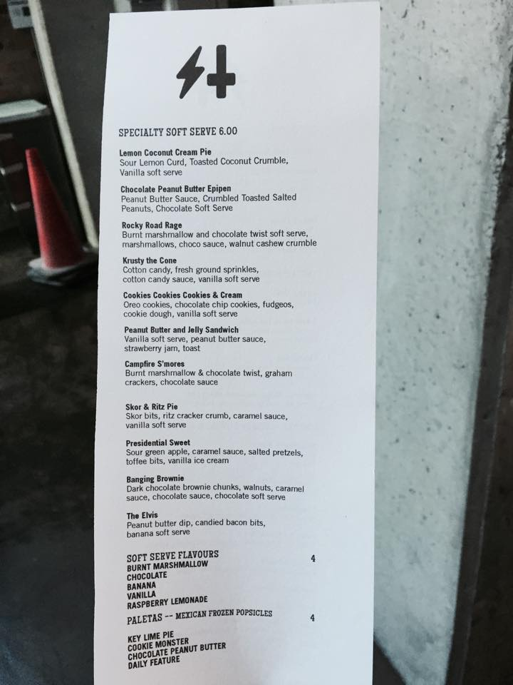Sweet Jesus Menu