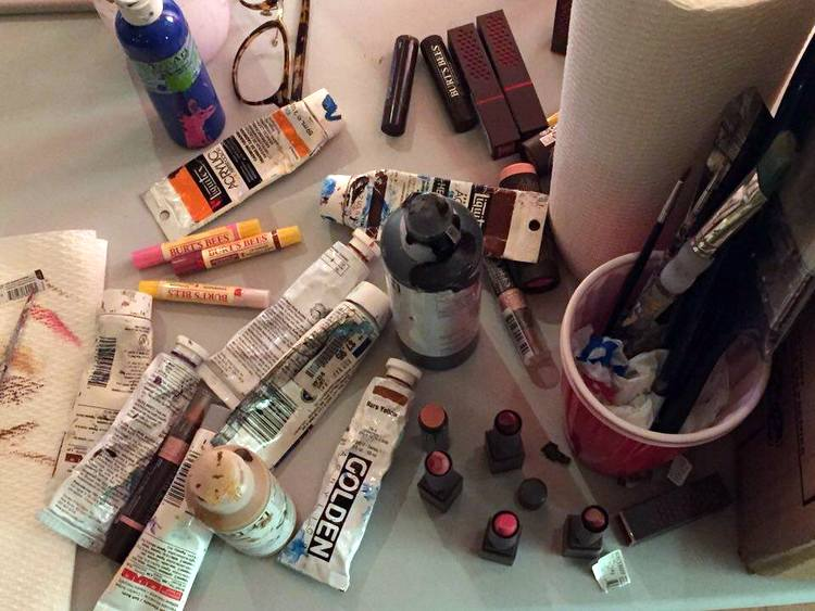 Not your typical art supplies.