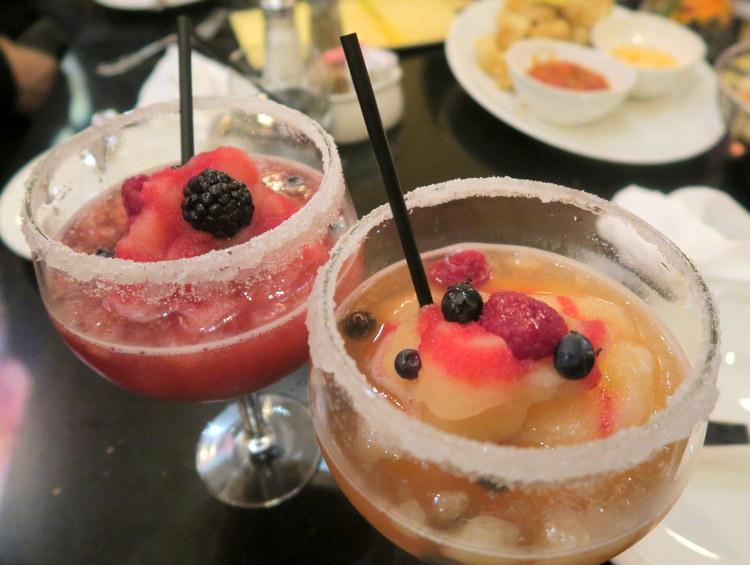 Mango & Raspberry Bellinis