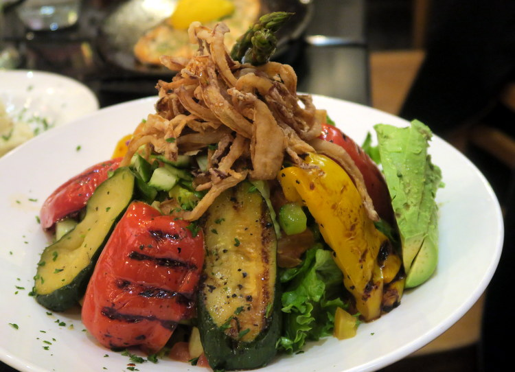 Mediterranean Grilled Vegetables and Chicken Salad