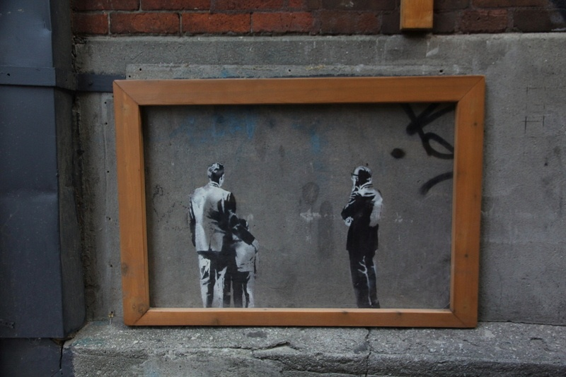 There's also an original Banksy!